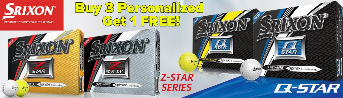 Srixon Buy 3 Get 1 Ball Promo Banner