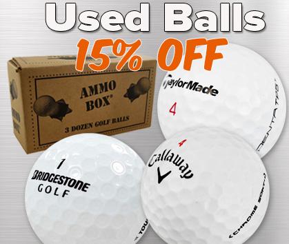 15% Off Used Balls!