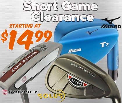 Short Game Clearance - Starting At $12.77!