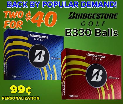 Bridgestone B330 Golf Balls - 2 For $40!