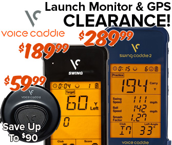 Voice Caddie Clearance - Save Up To $90!