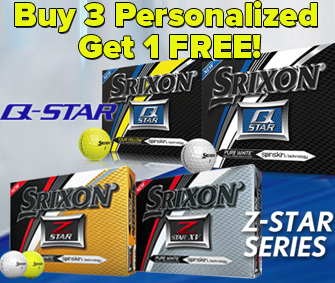 Buy 3 Personalized, Get 1 FREE Srixon Z-Star & Q-Star Golf Balls!