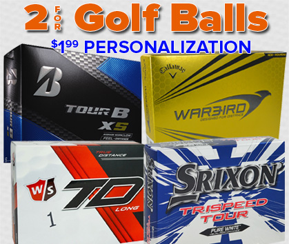 2 For Ball Deals - PLUS $1.99 Personalization!