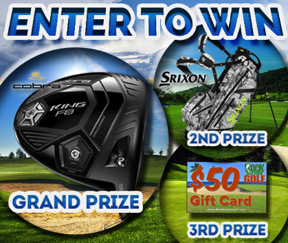 Enter to WIN a FREE Cobra Driver, Srixon Stand Bag or $50 RBG Gift Card!