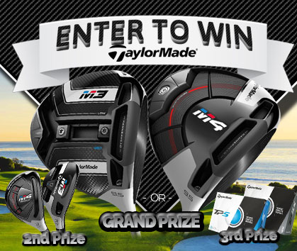 Enter to WIN a FREE TaylorMade M3/M4 Driver, TaylorMade M3/M4 Rescue Hybrid or 3 Dozen TaylorMade TP5 Golf Balls!​