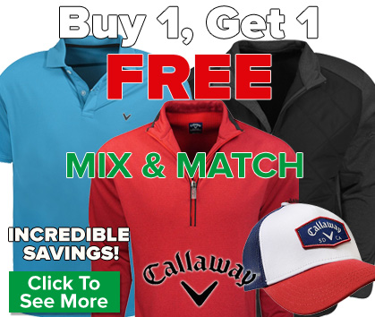 Callaway Apparel Sale - Buy One, Get One FREE!