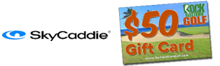 FREE $50 Gift Card w/ Select Sky Golf Purchase at Rock Bottom Golf!