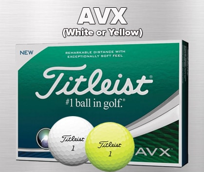 Titleist AVX White & Yellow Ball